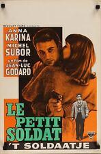 LE PETIT SOLDAT Belgian movie poster JEAN-LUC GODARD ANNA KARINA NM