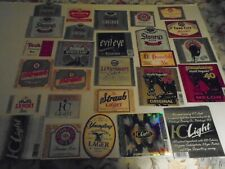 Lot Of (50) Diff Vintage East Coast Usa Beer Labels -Mint