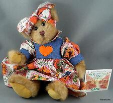 Ganz Teddy Bear Plush 9in Dorothy of Sommerset Lane Autumn Harvest Pumpkin Tags