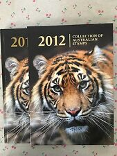 Collection of 2012 Australian Post Year Book Album with Stamps - Deluxe Edition