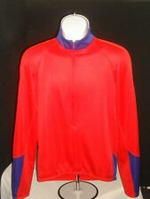 Performance BASE ZERO Long Sleeve WINTER Red/Blue Cycling Jersey Sz. M