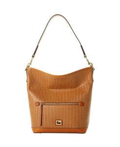 Dooney & Bourke Camden Woven Hobo Shoulder Bag, Camel/Gold