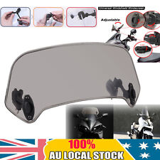 Motorcycle Clip On Windshield Extension Spoiler Wind Deflector Smoke Adjustable