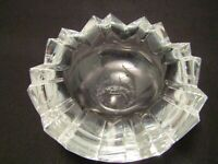 Vintage Cut Glass Ashtray Broken Egg Design Rosenthal Crystal
