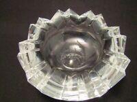 Vintage Cut Glass Ashtray Broken Egg Design Rosenthal Crystal