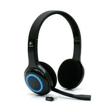 Logitech H600 Wireless Headset schnurlos schwarz-blau Bluetooth + MINI USB-Stick