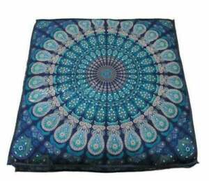 Indian Handmade Costume Square Mandala Floor Cushion Pillow Seat Throw