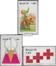 Brasilien 1682,1690,1691 (kompl.Ausg.) postfrisch 1978 Tag des Buches, Erntedank
