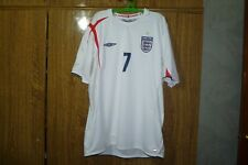England Umbro Football Shirt #7 David Beckham Home 2005/2006/2007 Soccer Size XL