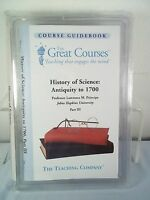 Great Courses History of Science Antiquity to 1700-Principe CD Set- Part III/ 3