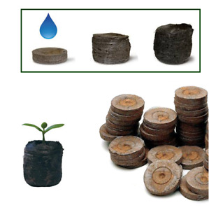 JIFFY-7 Peat Compost Plug Seed Starter Grow Propagation Hydro Pellets 41 x 42mm