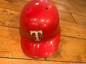 1996 TEXAS RANGERS GAME USED BATTING HELMET Righty size 7 1/8, 5/96 date stamp