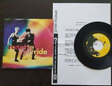 ROXETTE 1991 SINGLE MADE IN ITALY 45 PS 7 *JOYRIDE* WITH PORTUGAL PRESS RELEASE