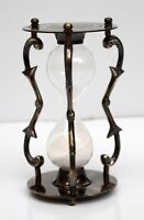 Antique brass & glass sand hour glass timer nautical maritime marine decor gift