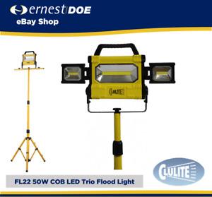 CLULITE FL22 RECHARGABLE FLOODLIGHT WITH 1.5M TRIPOD TRIO COB LED