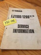 Yamaha FJ1100 FJ1200 84 / 88 service information technique technical data