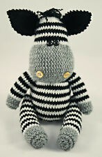 Zebra hand knitted toy | Knitted stuffed animal | Knitted toy for kids New baby