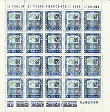 1978 Italia Repubblica Minifoglio 5000 lire alti valori nuovo ** spl
