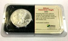 2002 SILVER AMERICAN EAGLE 1 OZ. FINE SILVER $1 US COIN -UNCIRCULATED -LITTLETON