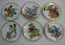Roger Tory Peterson Set 6 Songbird Plates 24K Gold 1981 Limoges Collector Boyer