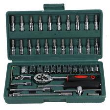 46 Piece Sleeve Set Tool Sleeve Ratchet Screwdriver Combination Socket Wrench Se