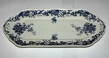 Villeroy & Boch Valeria azul Placa de torta del rey Porcelana vidrio, L 32,5 cm