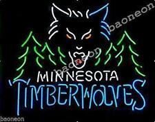 "24""X24"" Minnesota Timberwolves NEON SIGN BEER BAR PUB LIGHT Fast Free Shipping"