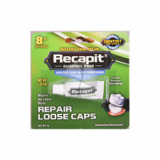 Dentemp RECAPIT No Mix Cement Loose Caps And Crowns 1g 8+ repairs UK Pharmacy