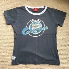 Converse Niñas de manga corta Camiseta, Talla 12 años, Fuerza Aérea Azul