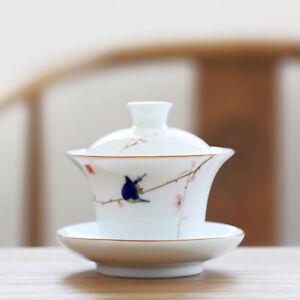 gaiwan tea porcelain handpainted tureen with lid bowl cup saucer for black tea