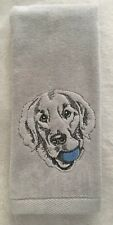 Golden Retriever, Hand Towel, Embroidered, Custom, Personalized, Dog