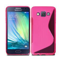 Slim Soft Wave Gel Case Soft Phone Back Cover For Samsung Galaxy A3 2014 & Film