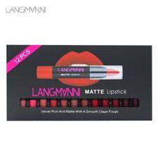 Langmanni 1 Set Of 12 Red Plastic Makeup Lipstick Set Non-Stick Cup Waterpr O6A7