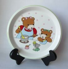 Vintage Mikasa Children's Plate Bears and a Mouse LITTLE CHEF