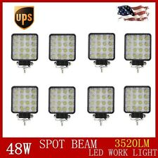 HOT 8PCS 48W SPOT 12V 24V LED Work Light Lamp Tractor Truck SUVUTV Offroad Jeep