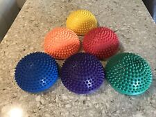 Balance Pods Hedgehog Stability Balance Trainer Dots (Set of 6) Euc!