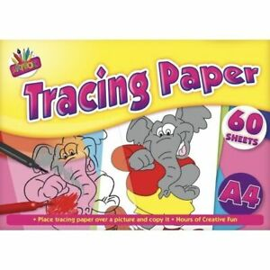 60 Sheets A4 Tracing Paper Pad Drafting Home School Picture Painting Top Quality