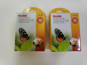 Kodak 10 Color Ink Cartridge Lot Of 2 New Authentic Factory Sealed 1935766