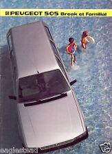 Auto Brochure - Peugeot - 505 Break et Familial - 1985 - Francais (AB453)