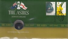 More details for coin & stamp cover  2010 australian  20c cents coin the ashes  auspost