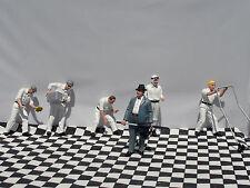 6 x peinte à la main metal figures 1.24 scale neuf-great track plus!