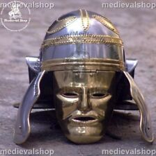 Roman Soldier Centurion Helmet with FACE COVER Armor Gladiator Costume