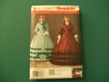 SIMPLICITY 1818 WOMENS DRESS GOWN SIZE U5 16-24 CIVIL WAR HISTORICAL COSTUME