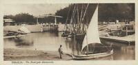 EARLY 1900's VINTAGE SUEZ CANAL ISMAILIA FLOOD-GATE POSTCARD - UNUSED
