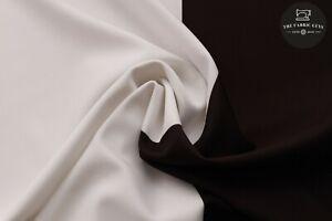 "Black and White Modern Chic Stripe, Scuba Jersey Stretch Fabric,High Quality 60"""