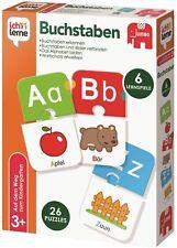 Jumbo Spiele 19548 Ich lerne Buchstaben Lernspiel Kinderspiel Puzzle Ab 3 Jahren