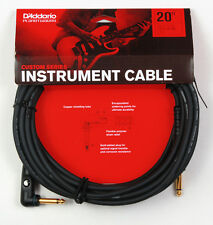 Planet Waves Pw-Gra-20 20 Foot Custom Series Instrument Cable, Right Angle Plug