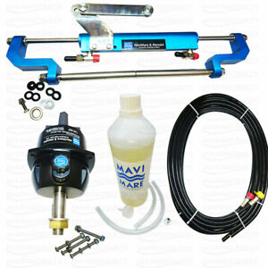 Hydraulic Outboard Steering System Kit Boat Marine Cylinder Helm Pump Mavi Mare