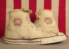 Vintage 1960s Jeepers White Canvas Basketball Sneakers Sears Athletic Shoes Sz 9