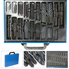 UK HSS Engineering Presion Drill Bit Set 1mm-10mm Assorted Kit Metal Case 170X